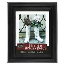 "Home Collection Black Classic Beaded Frame by Studio Decor, 8"" x 10"""